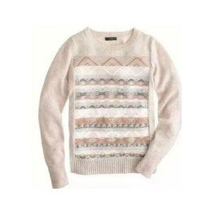 [J. Crew] Fair Isle Wool Sweater - sz XS